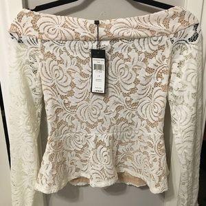 BCBG Lace long sleeve blouse